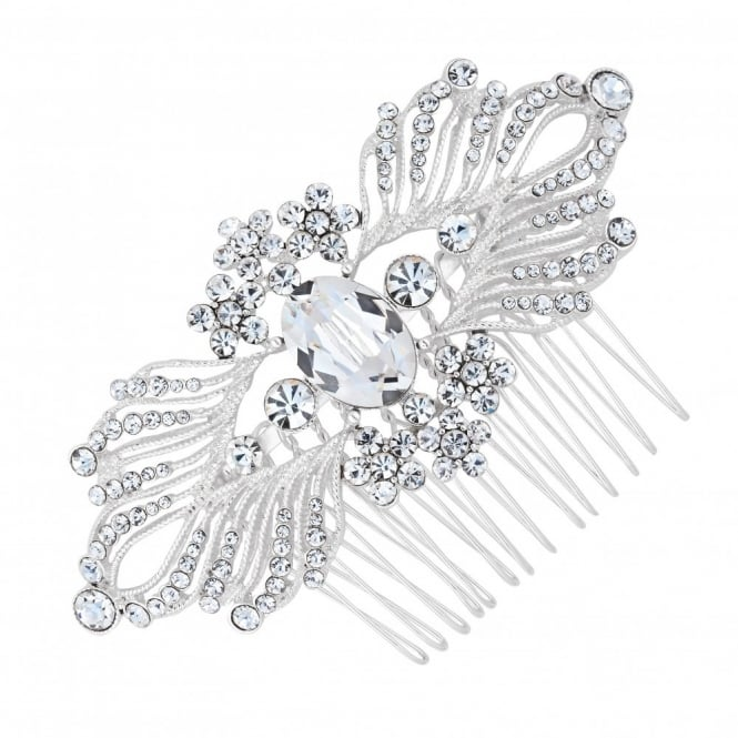 Olivia mini flower crystal hair comb
