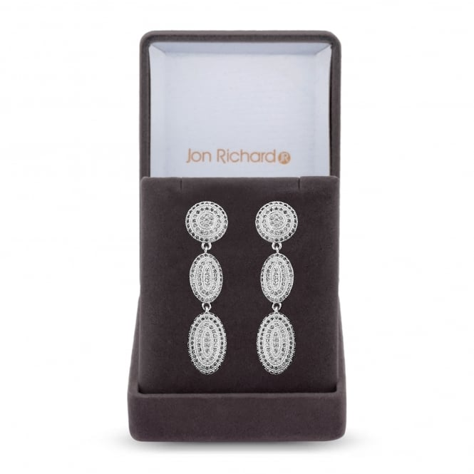 Pave drop shape earring