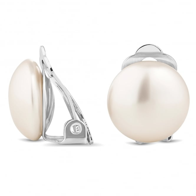Pearl Bouton 14mm Stud Clip On Earring