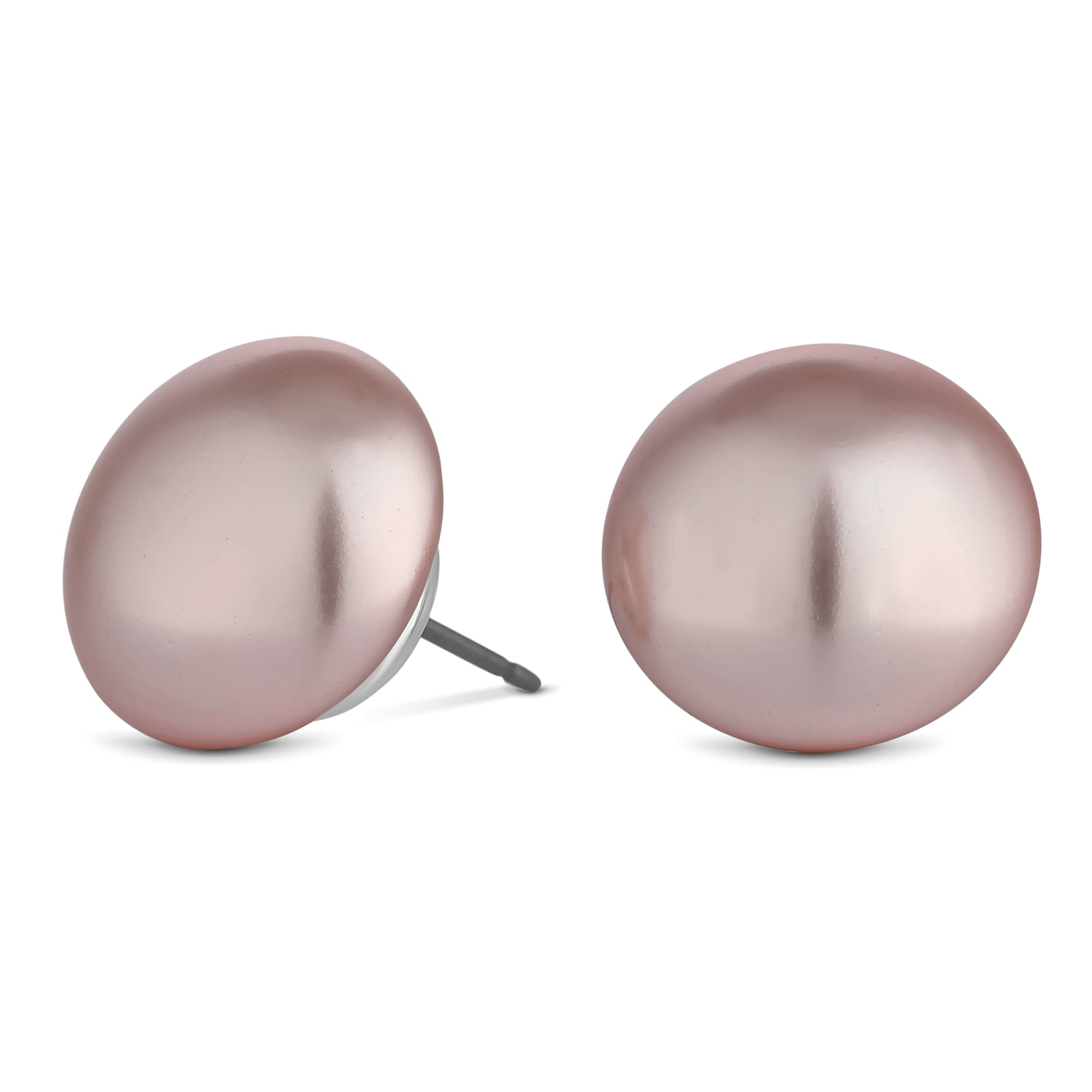 cultured silver pearl sterling stud freshwater earrings lavender button