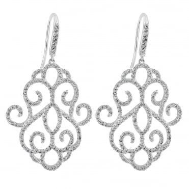 Rosalia filigree drop earring