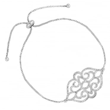 Rosalia filigree toggle bracelet
