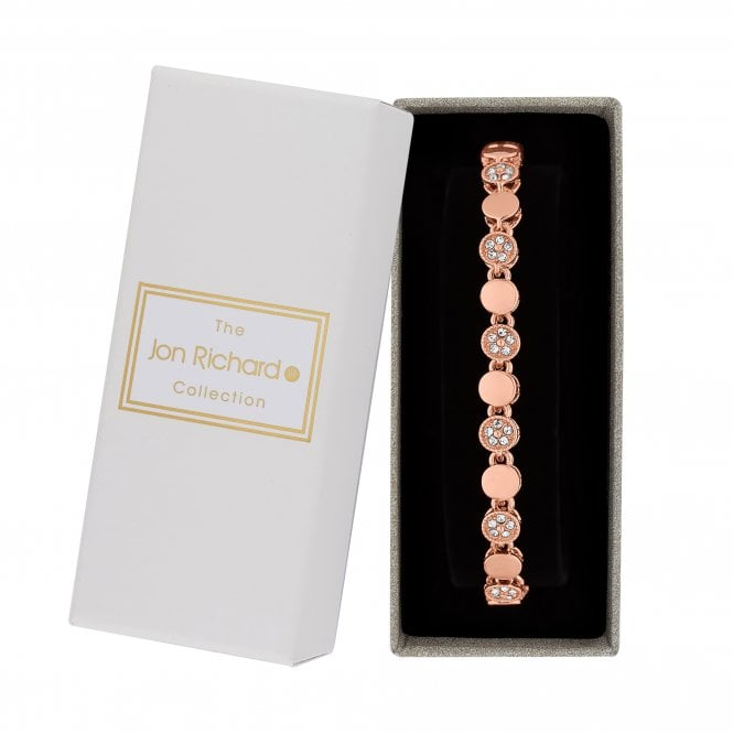Rose Gold Pave Crystal Bracelet In A Gift Box