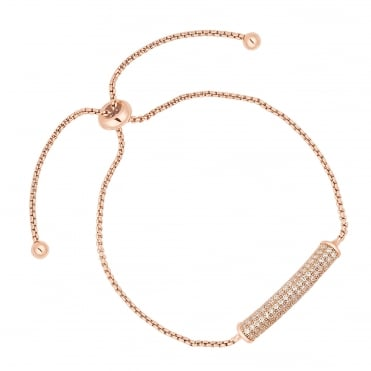 Rose gold pave toggle bracelet