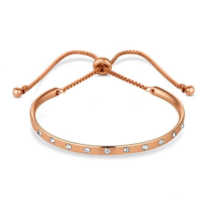 Rose Gold Plated Curved Bar Toggle Bracelet