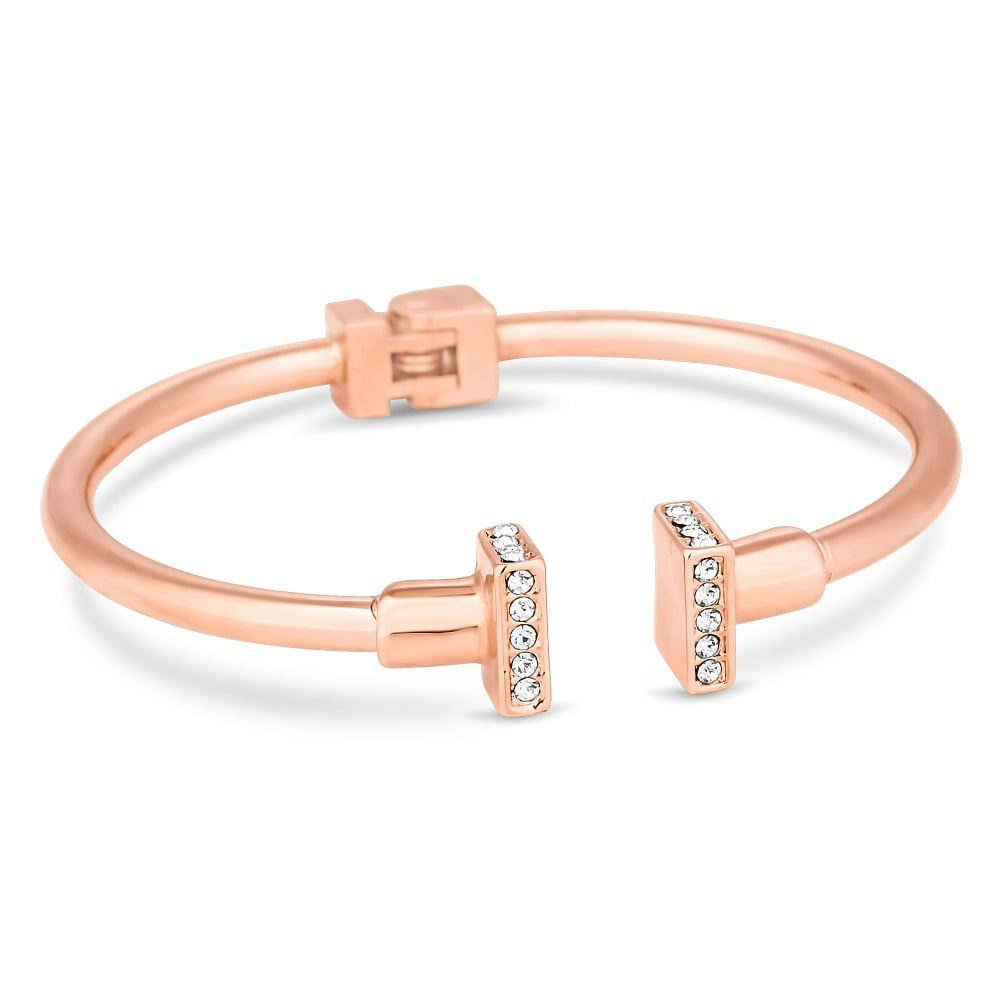 bow jewellery bangles equilibrium in open bangle silver gold or rose detail