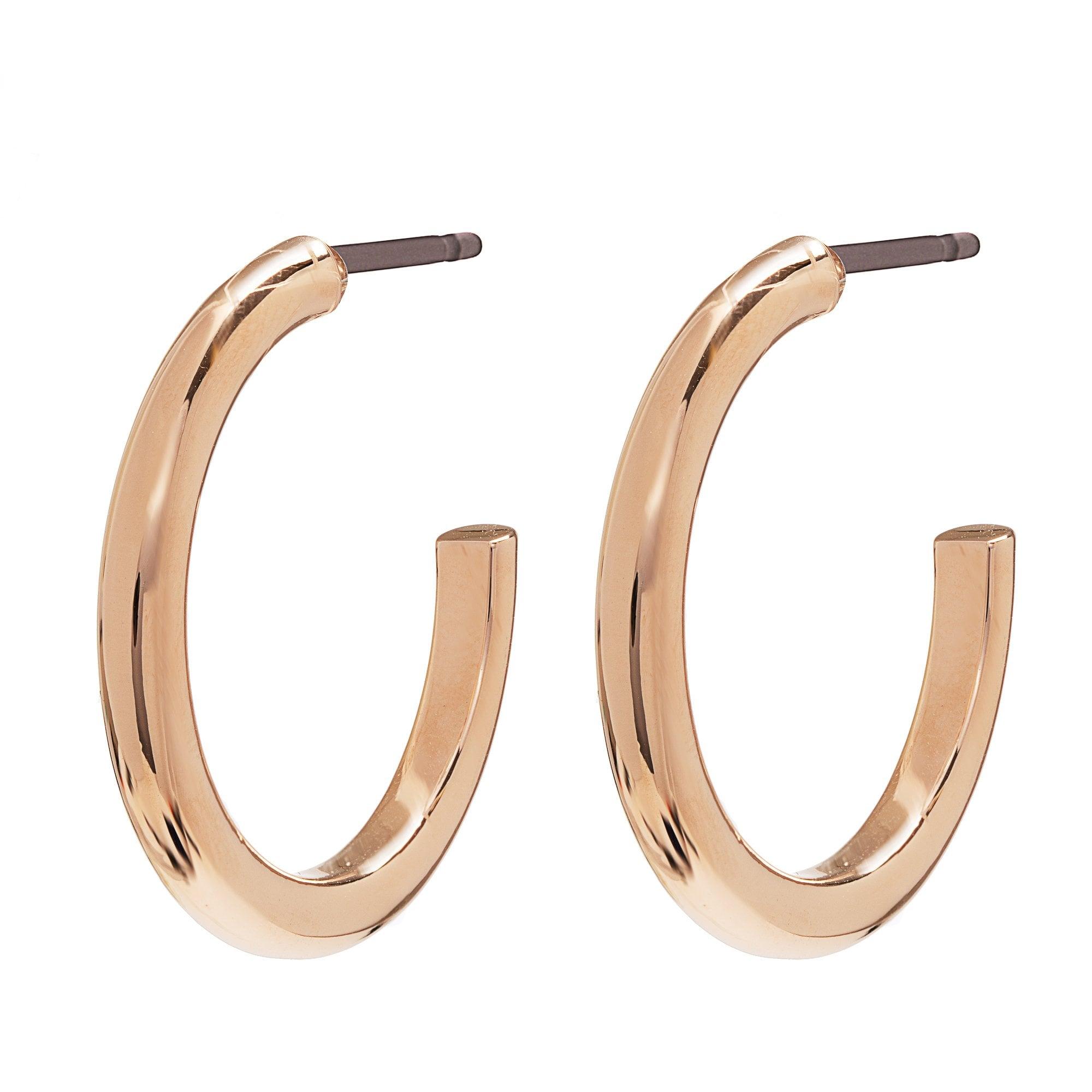 Jon Richard Rose Gold Thick Small Hoop Earrings Jewellery From Jon Richard Uk