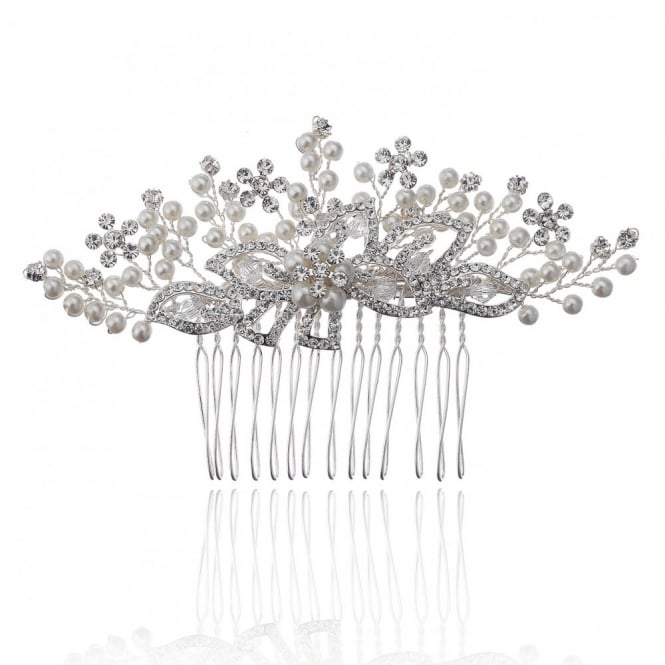 Image of Sara Spray Mini Pearl Flower Comb