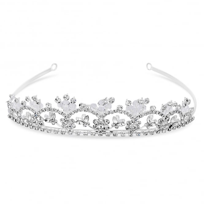 Silver Crystal Butterfly Tiara