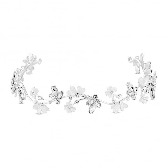 Silver Crystal Flower Hair Halo