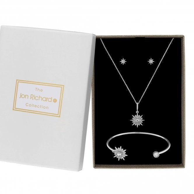 Silver Crystal Snowflake Jewellery Set