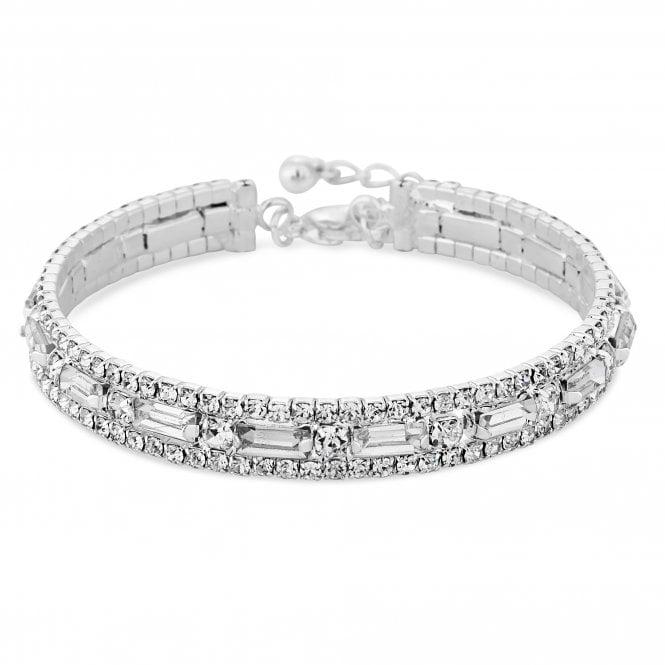 Silver Crystal Statement Bracelet