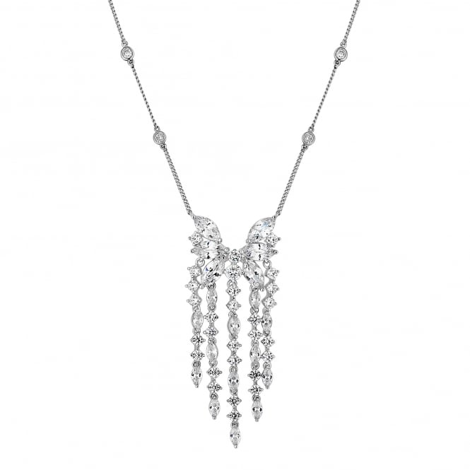 Jon Richard Silver cubic zirconia droplet necklace