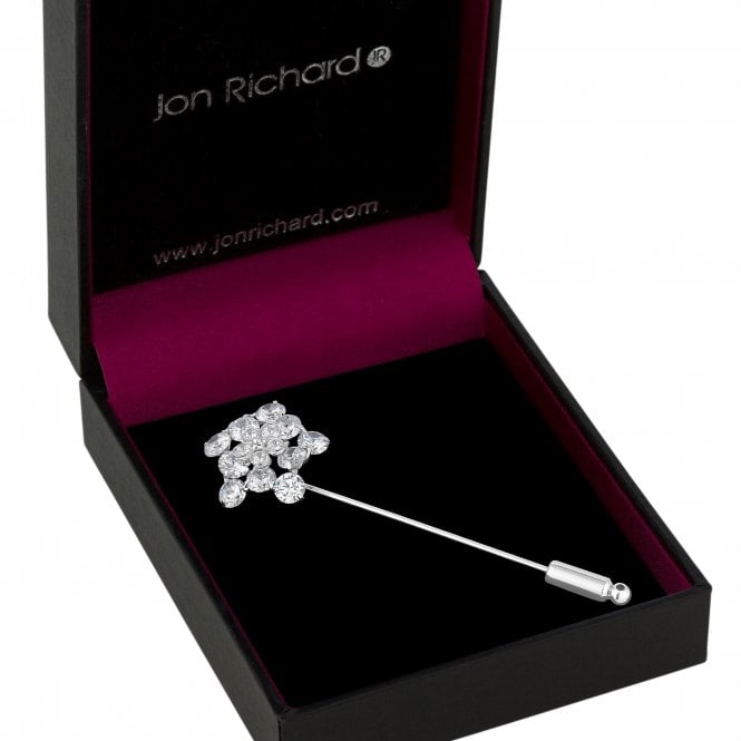 Silver Cubic Zirconia Star Pin