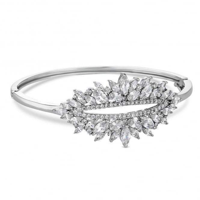 Silver cubic zirconia statement bracelet