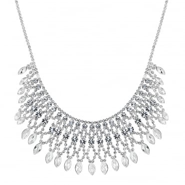 Silver diamante collar necklace