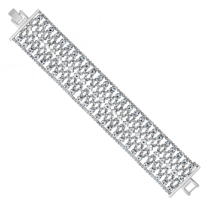 Jon Richard Silver diamante crystal bracelet