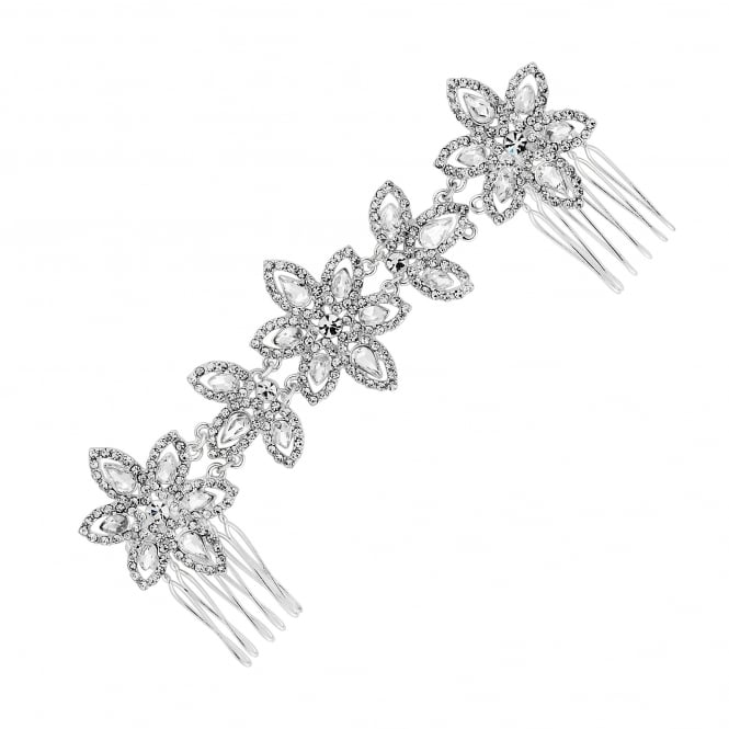 Silver double flower headband