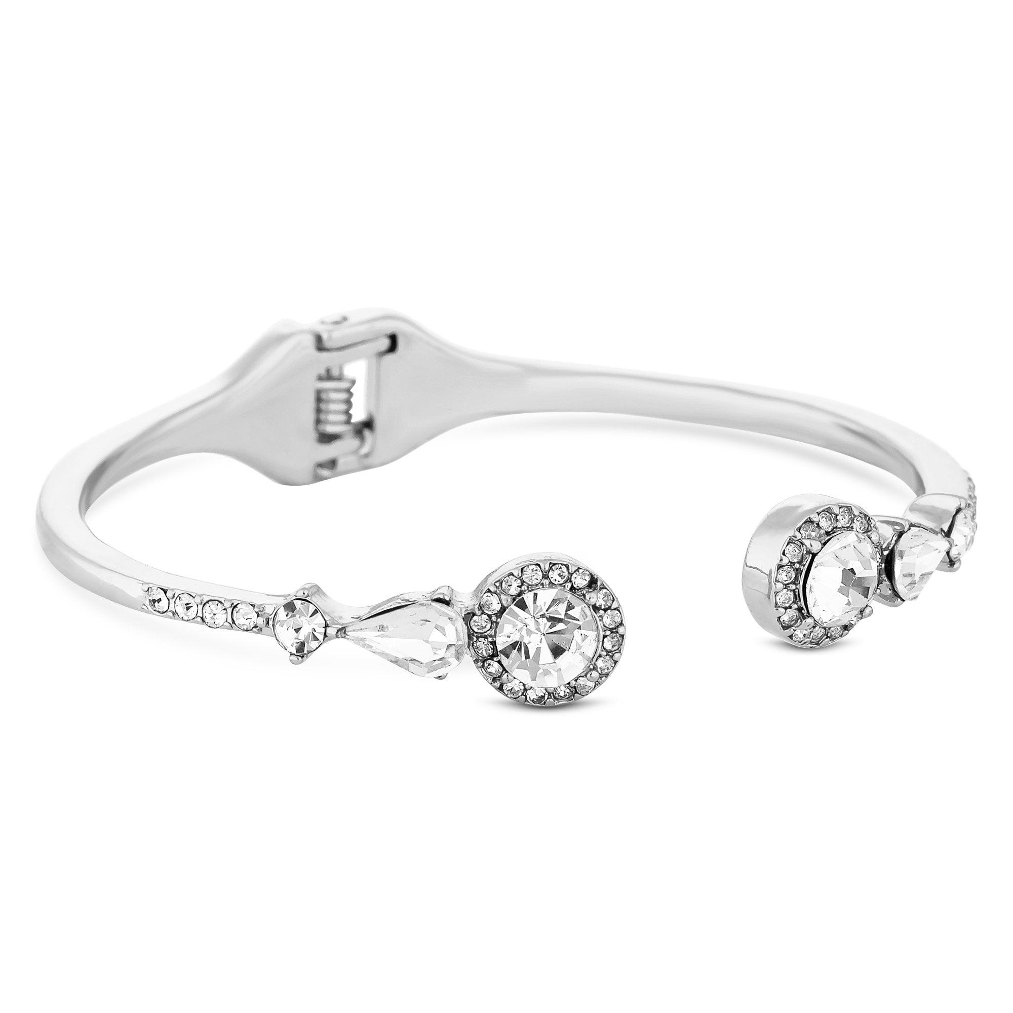 418b2760fa6a Jon Richard Silver Open Crystal Halo Bangle - Jewellery from Jon ...