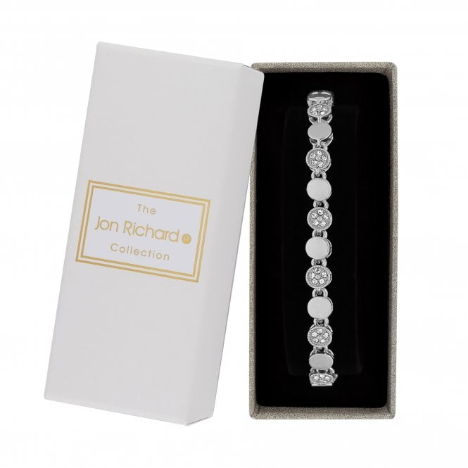 Silver Pave Crystal Bracelet In A Gift Box