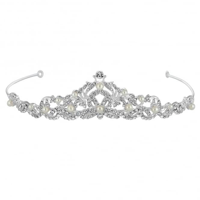 Silver Pearl And Crystal Isabella Swirl Tiara