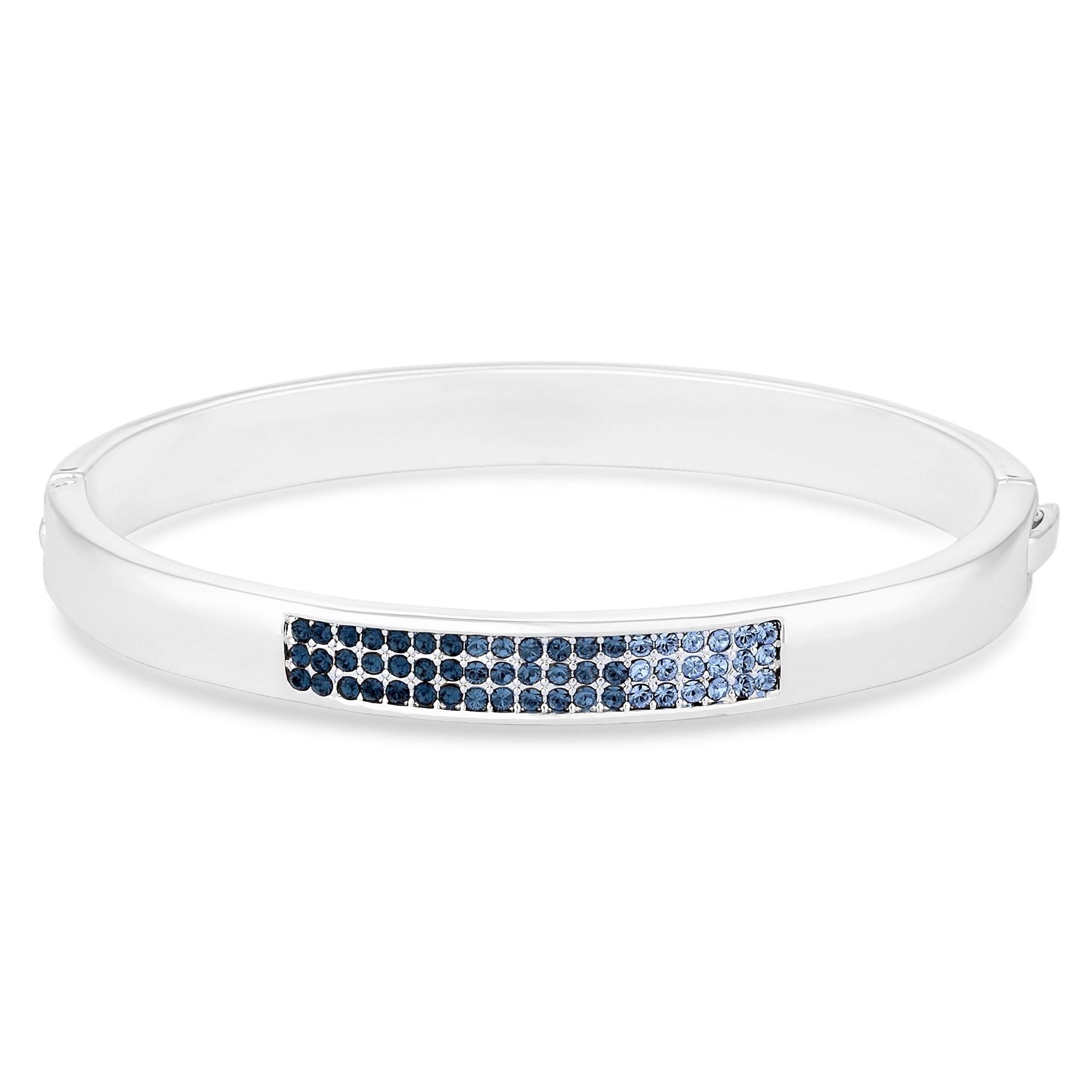 38cd728837b5 Jon Richard Silver Plated Blue Ombre Pave Bangle with Swarovski Crystals