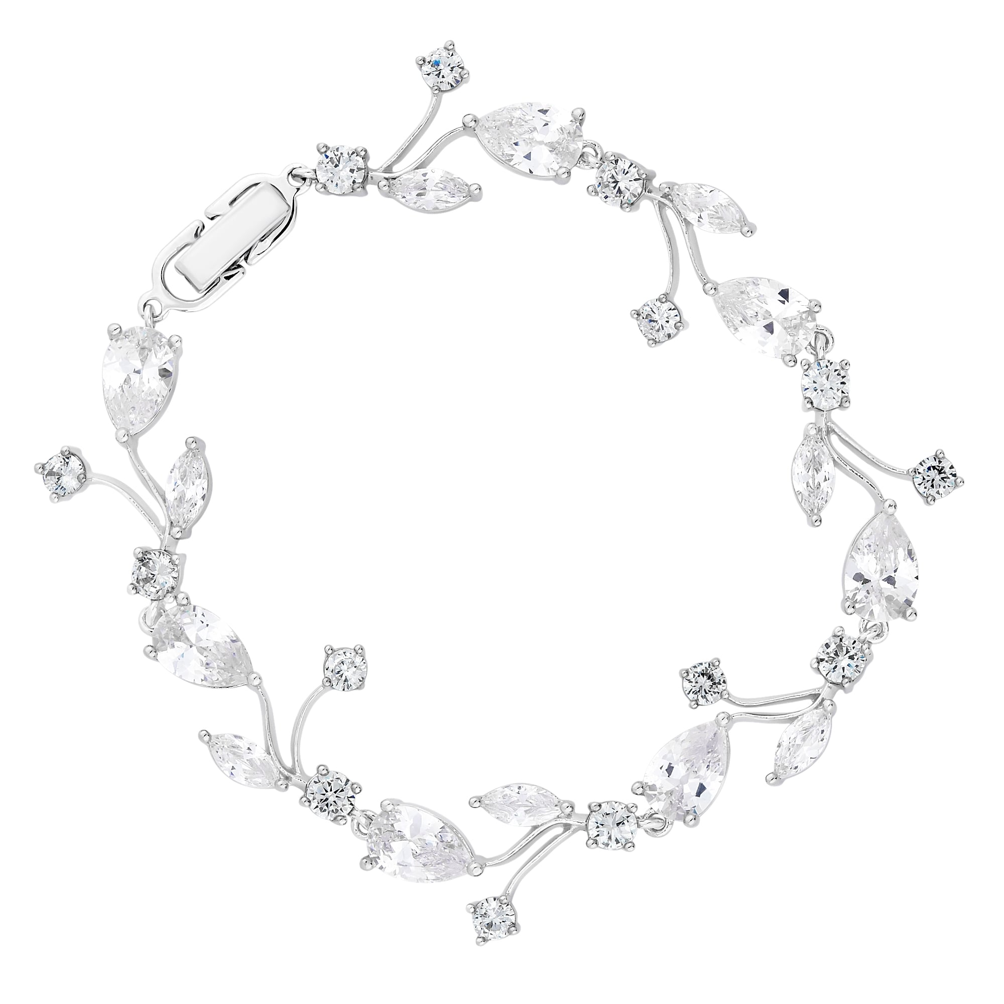 jewellery diamonflash bracelet silver amelia zirconia cubic real sup sterling