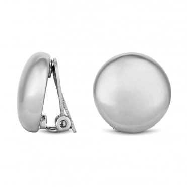Silver Plated On Clip Stud Earring