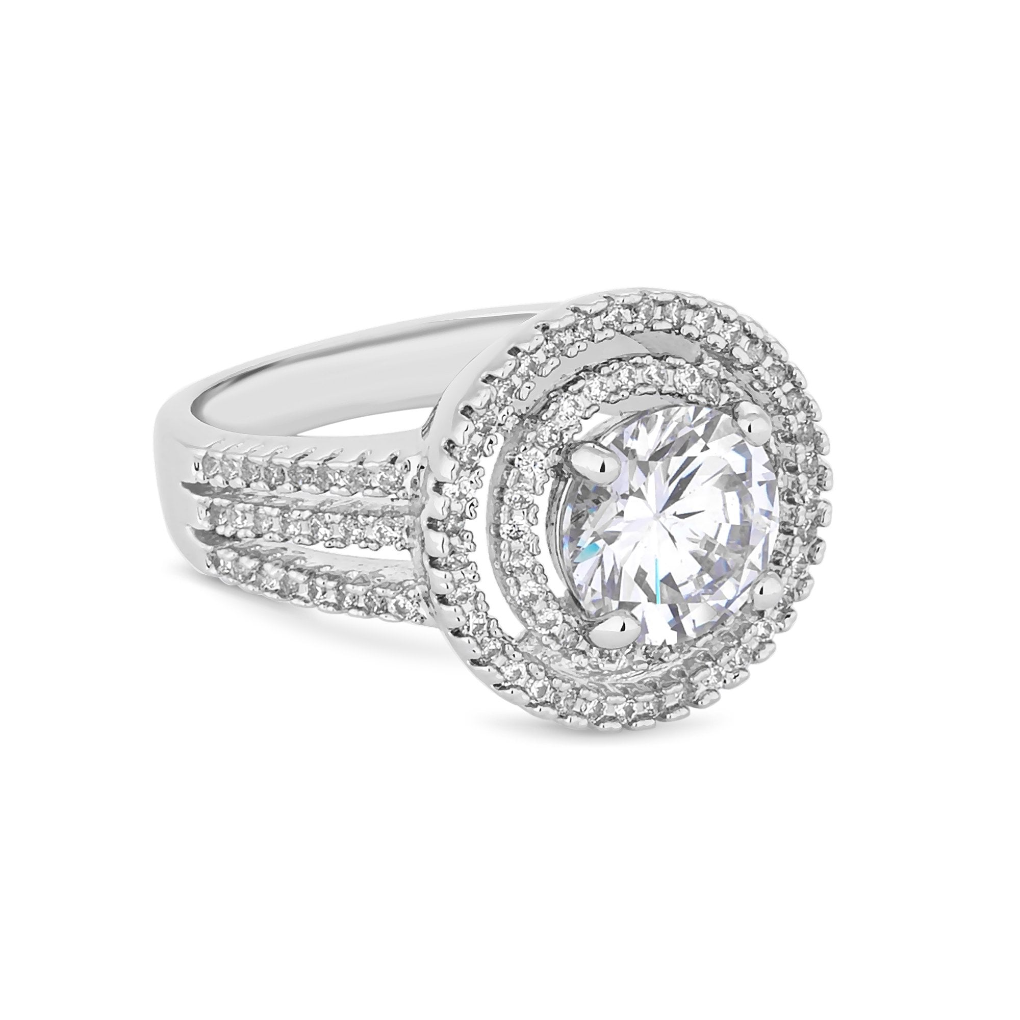 Jon Richard Silver Plated Clear Large Solitaire Cubic