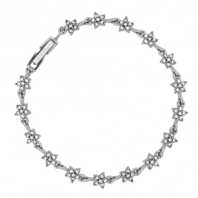 Silver Plated Crystal Star Link Bracelet