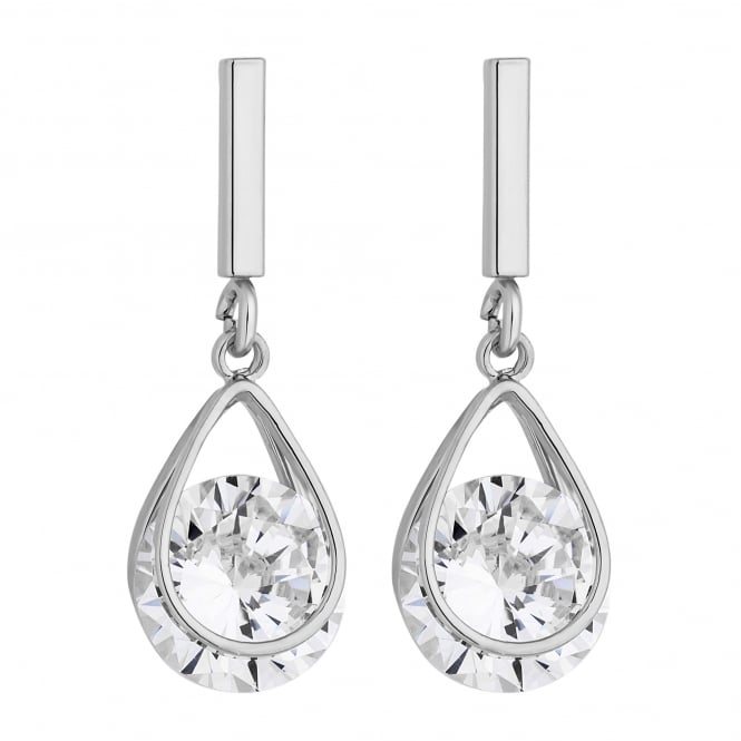Silver Plated Cubic Zirconia Drop Earring
