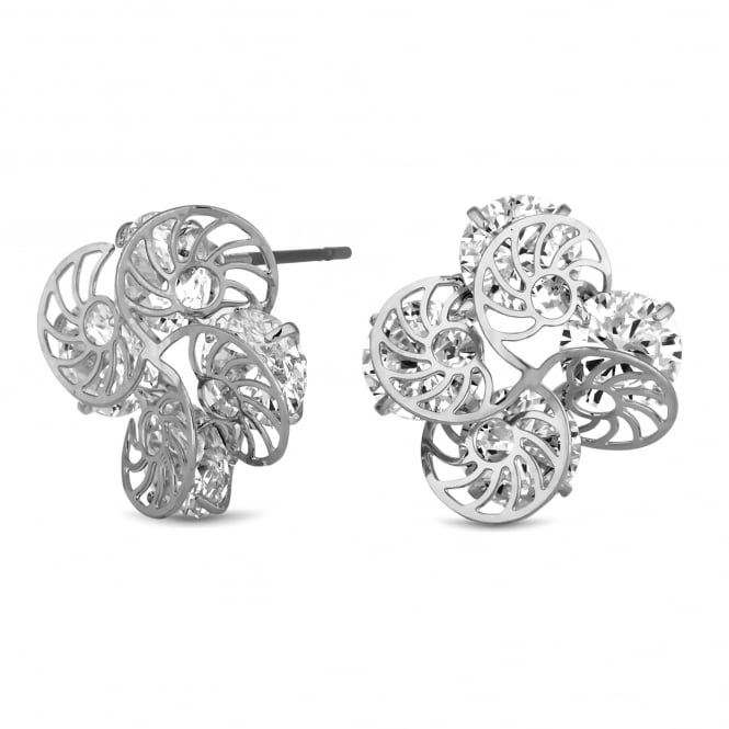 Silver Plated Filigree Twist Stud Earring