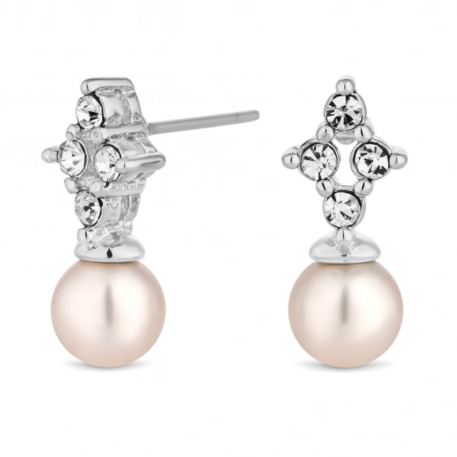 Silver Plated Pearl Drop Earring