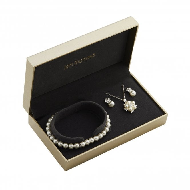 Silver Plated Pearl Trio Set - Gift Boxed