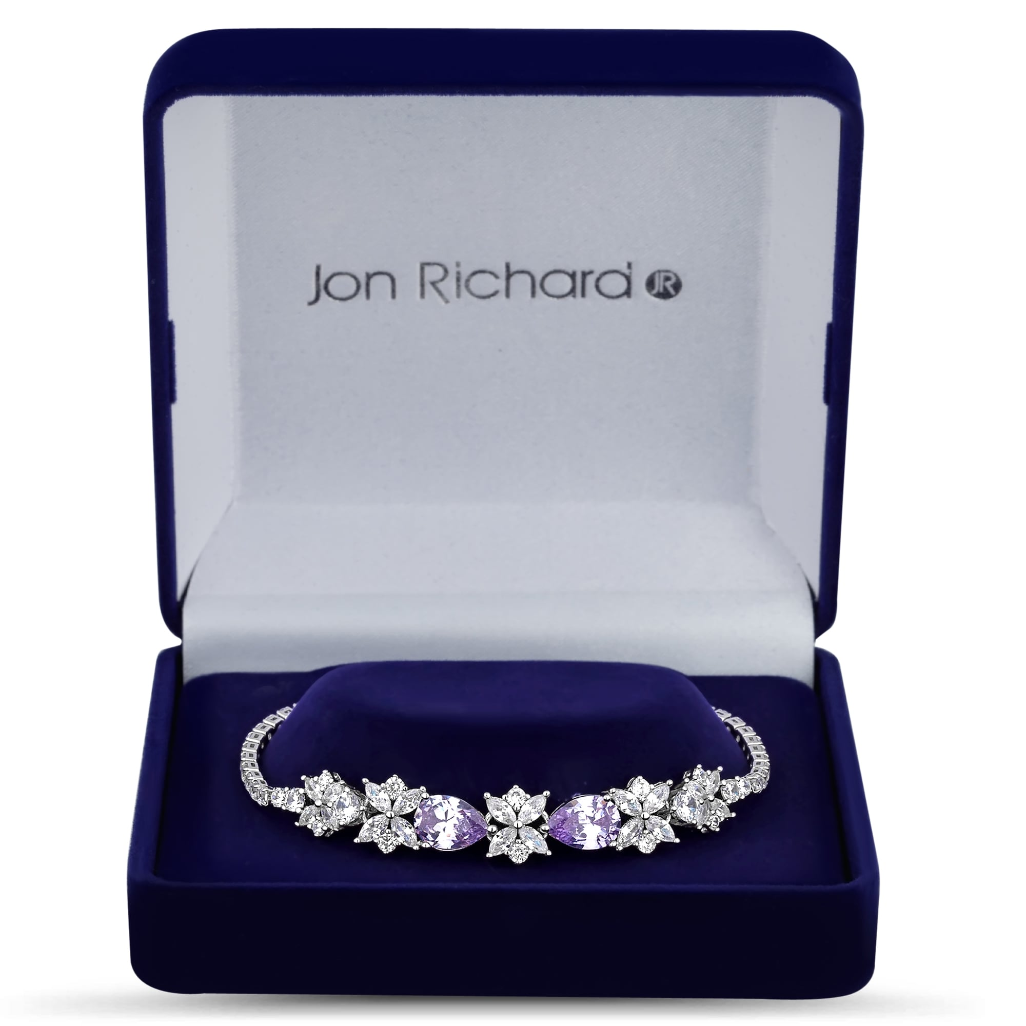 Jon Richard Women's Cubic zirconia peardrop necklace in a gift box pmVDhpq3h5