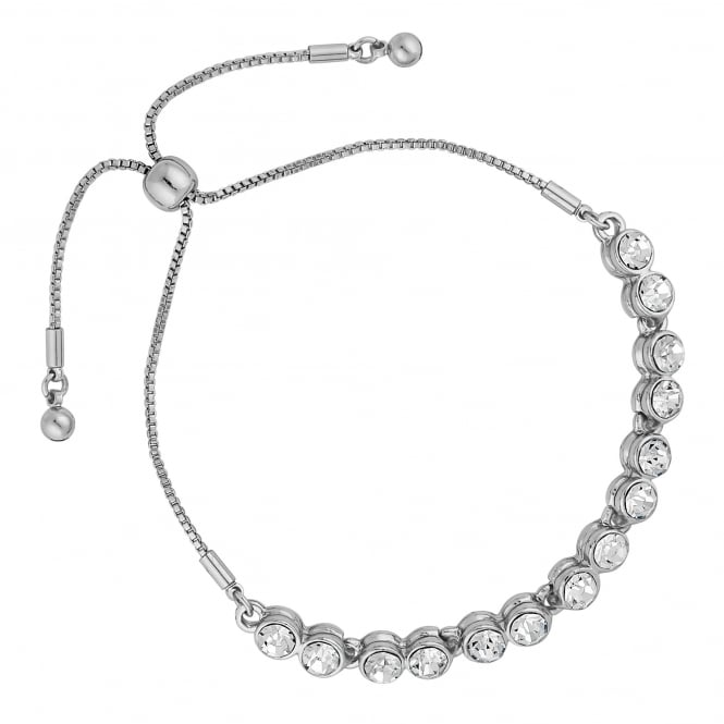 Silver Plated Tennis Toggle Bracelet