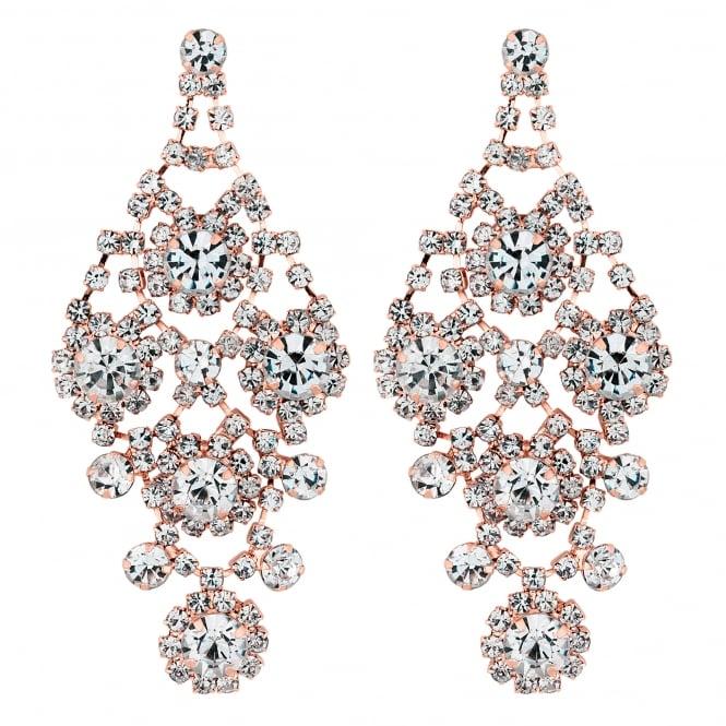 Jon Richard Statement ornate diamante drop earring