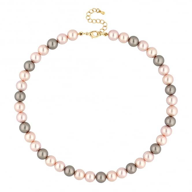Tonal Pink Pearl Necklace