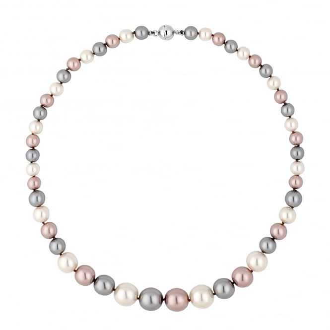 Jon Richard Triple tone pearl chain magnetic necklace