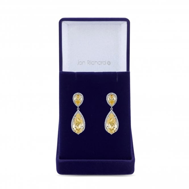 Image of Yellow Peardrop Earring - Gift Boxed