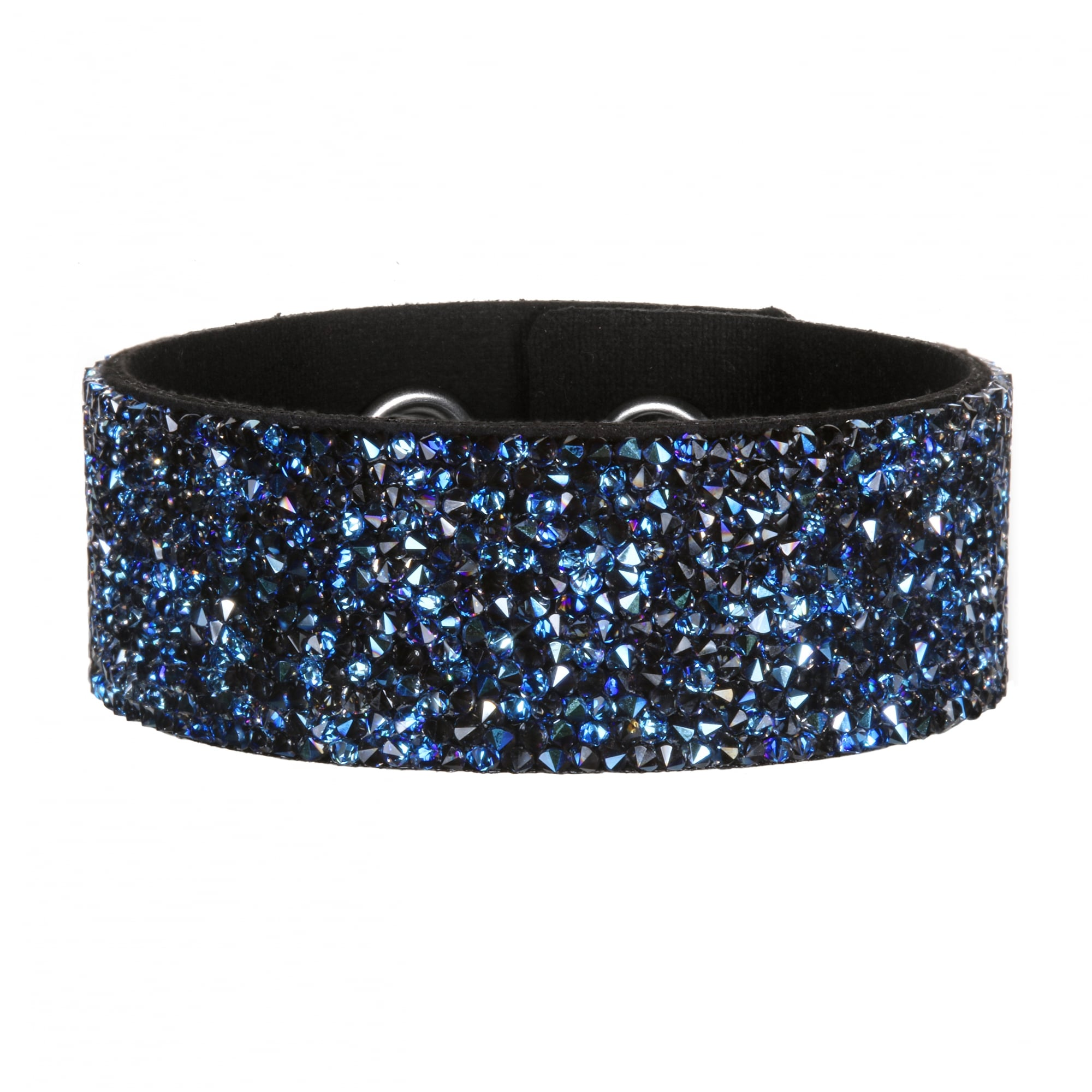Karl Lagerfeld Crystal Cer Suede Cuff Bracelet Created With Swarovski Crystals