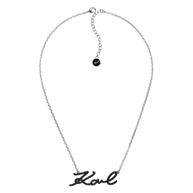 Karl signature necklace created with Swarovski crystals