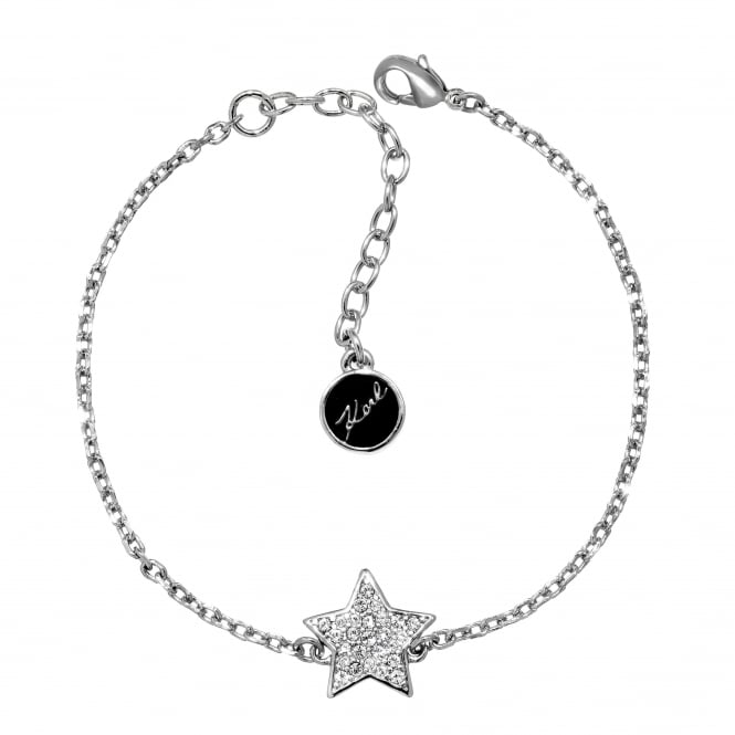 Silver Pave Star Bracelet Created With Swarovski Crystals