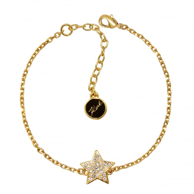 Gold Pave Star Bracelet Created With Swarovski Crystals