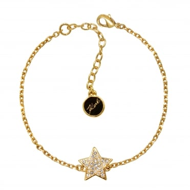 Gold Pave Star Bracelet Created With Swarovski® Crystals