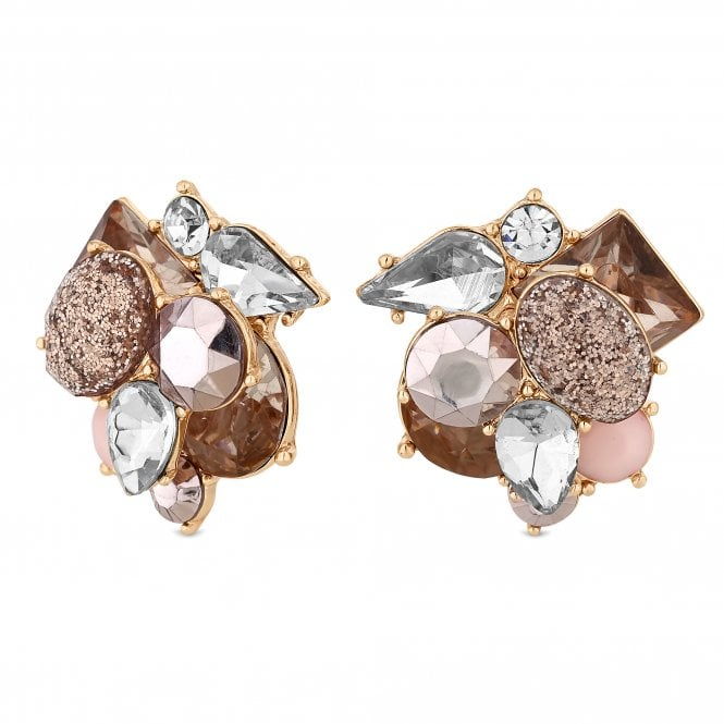 Layered Crystal Statement Stud Earring