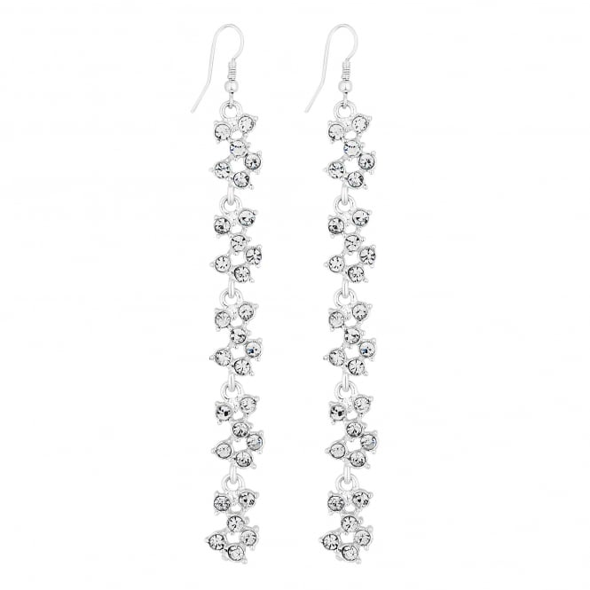 Lipsy Silver Crystal Cluster Drop Earring