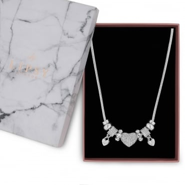 Crystal Pave Charm Gift Necklace