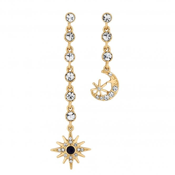 Gold Celestial Mismatched Earring Set