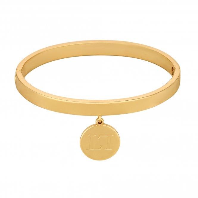 Gold Coin Charm Bangle